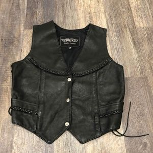 Unik Vintage Leather Biker Motorcycle Vest